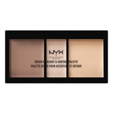 Nyx Professional Makeup Cream Highlight & Contour Palette - Deep