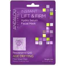 Andalou Naturals Instant Lift & Firm Hydro Serum Facial Sheet Mask 18ml